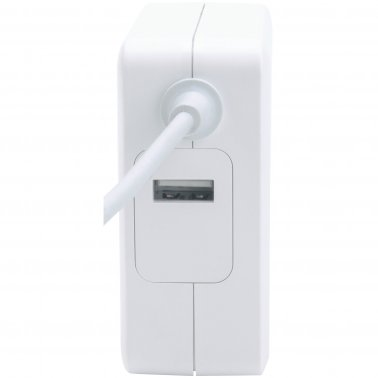 up to 2.4 A USB-A Charging Port White up to 60 W Manhattan Power Delivery Wall Charger with Built-in USB-C Cable 60 W USB-C Power Delivery Connector