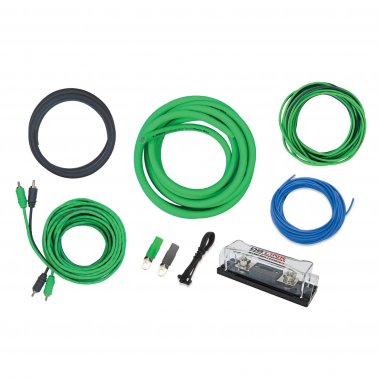 Absolute ANLPKG0GR Power Cable and In-Line ANL Fuse Kit Green